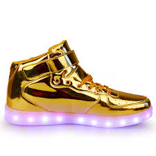 big kids light up shoes 25 40 pu leather high top led light up sneakers boys girls little