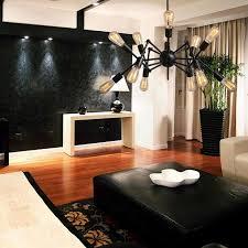 Bar Light Fixtures by Industrial Loft Spider Design E27 Edison Chandelier Cafe Bar Light