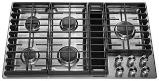 Kitchenaide Cooktop Shop Kitchenaid 5 Burner Gas Cooktop With Downdraft Exhaust