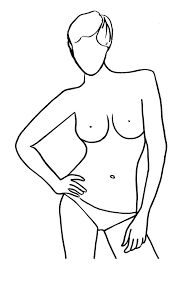 gallery female body outline for fashion drawing art gallery