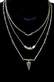 wholesale jewelry necklace chains images Three layer pendant chain necklace jpg