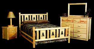 Pictures Of Log Beds by Hand Crafted Montana Log Bed Frame By Viking Log Furniture