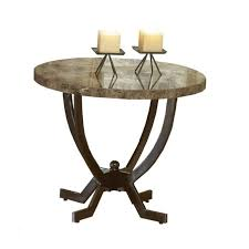 marble base table l hillsdale monaco metal base end table with faux marble top 4142 882