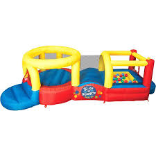 Backyard Bounce Banzai Slide U0027n Bounce Activity Center Inflatable Backyard Jump