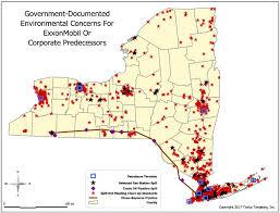 Ithaca Ny Map Exxonmobil Or Corporate Predecessor Environmental Data Regarding