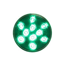4 inch round led lights round 4 inch green led light 10 diodes 4 state trucks