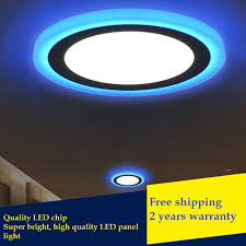 flat square ceiling lights ultra thin led double color plate light circular square embedded