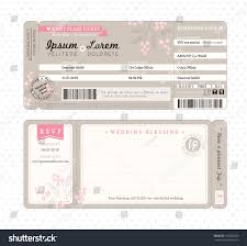 Boarding Pass Wedding Invitations Boarding Pass Ticket Wedding Invitation Template Stock Vector