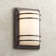 Outdoor Wall Light Fixture 11 High Bronze Opal Glass Indoor Outdoor Wall Light 58343