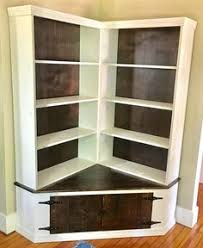 Corner Bookcases Shabby Chic Corner Bookcase With Seat Corner Bookshelves Ships