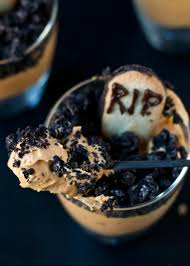 pumpkin dirt pudding graveyard parfaits neighborfood