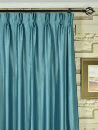 120 Drapery Panels Extra Wide Swan Gray And Blue Solid Double Pinch Pleat Curtains