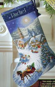 dimensions sleigh ride at dusk cross stitch kit 8712