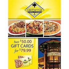 Is California Pizza Kitchen Expensive by California Pizza Kitchen Two 50 Gift Cards