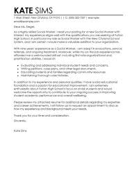 best social worker cover letter exles livecareer
