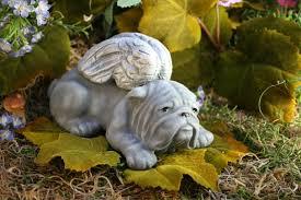 bulldog garden statues concrete bulldog