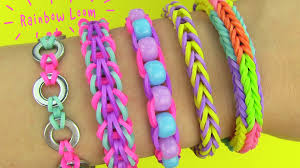 bracelet made with rubber bands images Rainbow loom diy 5 easy rainbow loom bracelets without a loom jpg
