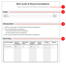 it support report template seo audit report schedule templates make actionable recommendations