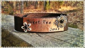 leather hand bracelet images Heart strings quot words collection hand stamped leather bracelet jpg