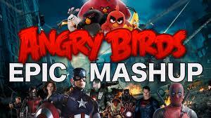 epic movie mashup angry birds v deadpool v superman v captain