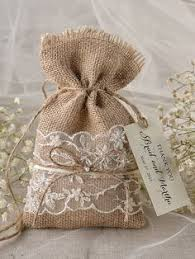 lace favor bags burlap bag with lace ribbon trim bags burlap linen and cloth