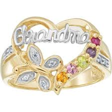 grandmother rings keepsake personalized family jewelry s blessing ring