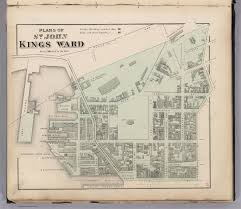 St John Map St John Kings Ward New Brunswick David Rumsey Historical