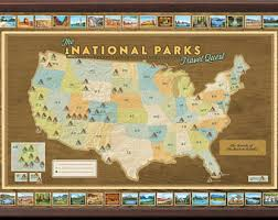 us map framed usa map national parks slate edition framed pin map ready