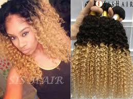 curly extensions 1 bundle 8a ombre remy hair curly t1b 27