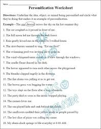 personification worksheets grade 3 free worksheets library