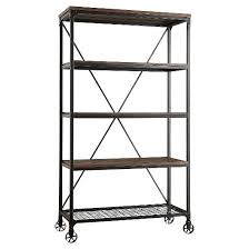 Bookcase Wide Merida 4 Shelf Mixed Media 40