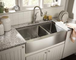 Pictures Of Kitchen Sinks And Faucets by Kitchen Convenient Cleaning With Stainless Steel Farm Sink