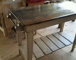 distressed kitchen islands kitchen island etsy