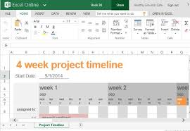 excel project timeline template free excel project management