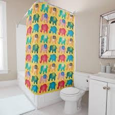 colorful elephants shower curtain elephant shower curtains