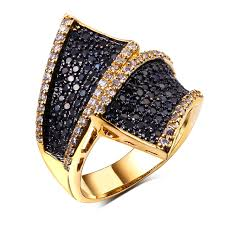 black girl rings images Vintage jewelry office rings for girl cubic zirconia black and jpg