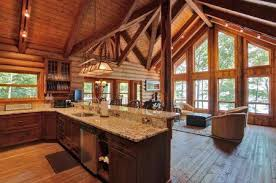 rustic kitchen design everything log homes