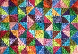 Wool Hook Rug Kits Vintage U0027sprinkles U0027 Latch Hook Rug Kit