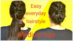 2 easy twisted hairstyles for medium hair diy quick hairstyles