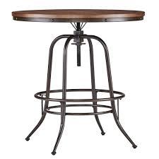 Adjustable Height Bar Table Homesullivan Brown Adjustable Pub Bar Table 405429 36rd