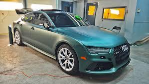 audi color changing car audi rs7 satin pine green metallic car wraps mississauga