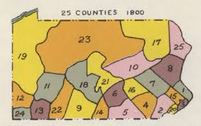map of counties in pa pennsylvania genealogical county map