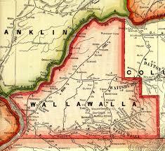 Washington Map by Walla Walla County Washington Maps And Gazetteers