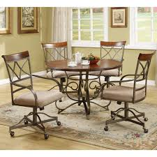 casual dining cushion swivel and tilt rolling caster chair great