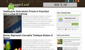 templates for blogger for software bloggerleaf blogger template free download