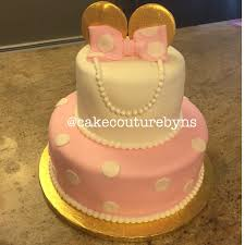 minnie mouse cake with gold ears cake couture by nicole solano