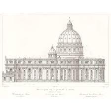 rome st peter u0027s basilica side elevation britton images