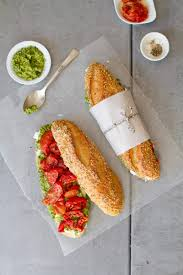 slow roasted tomato and cilantro cashew picnic sandwich