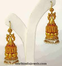 temple design gold earrings 7 best ethic collection images on jhumka designs gold