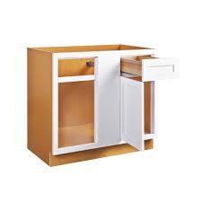 36 inch base kitchen cabinets blind corner base left or right snow white inset shaker blind 36 42 inch